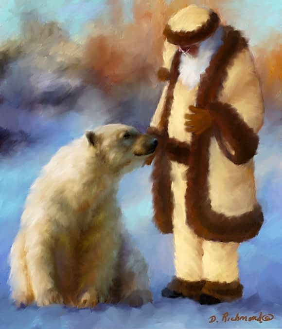 Santa and His Polar Bear